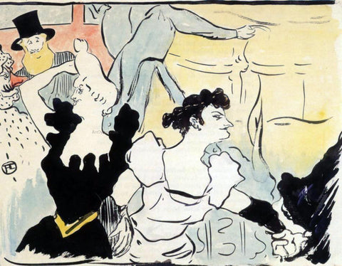 Henri De Toulouse-Lautrec Au bal (also known as Au bal) - Hand Painted Oil Painting
