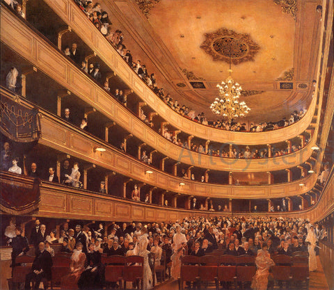 Gustav Klimt Auditorium in the Old Burgtheater, Vienna - Hand Painted Oil Painting