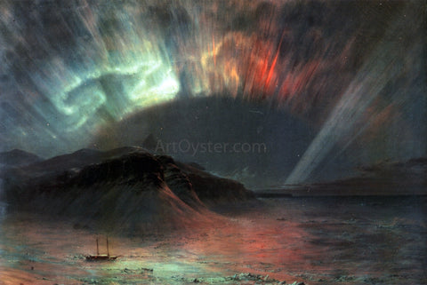 Frederic Edwin Church Aurora Borealis - Hand Painted Oil Painting