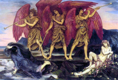 Evelyn De Morgan Aurora Triumphans (also known as Dawn) - Hand Painted Oil Painting