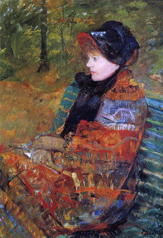 Mary Cassatt Autumn (also known as Profile of Lydia Cassatt) - Hand Painted Oil Painting