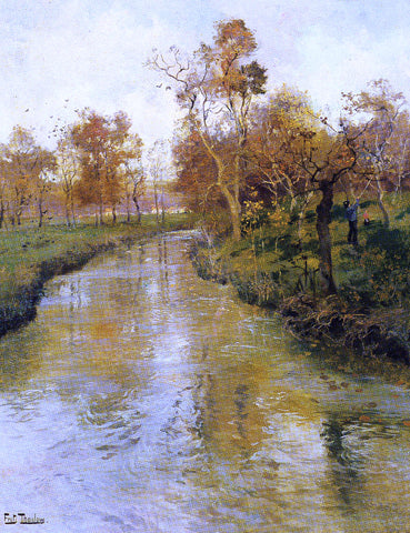 Fritz Thaulow Autumn - Hand Painted Oil Painting