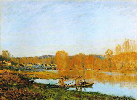 Alfred Sisley Autumn - Banks of the Seine near Bougival - Hand Painted Oil Painting