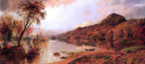Jasper Francis Cropsey Autumn by the Lake - Hand Painted Oil Painting