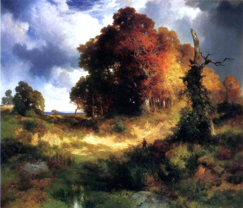 Thomas Moran Autumn - Hand Painted Oil Painting