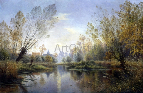 Armand Guery Autumn Evening (also known as Moonrise over the Suippe) - Hand Painted Oil Painting