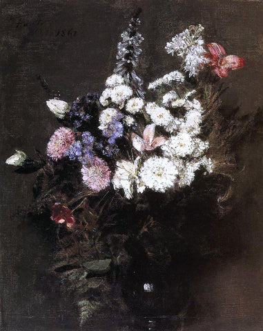 Henri Fantin-Latour Autumn Flowers - Hand Painted Oil Painting