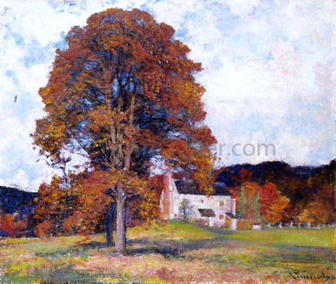 Robert Vonnoh Autumn Hillside & My Studio - Hand Painted Oil Painting
