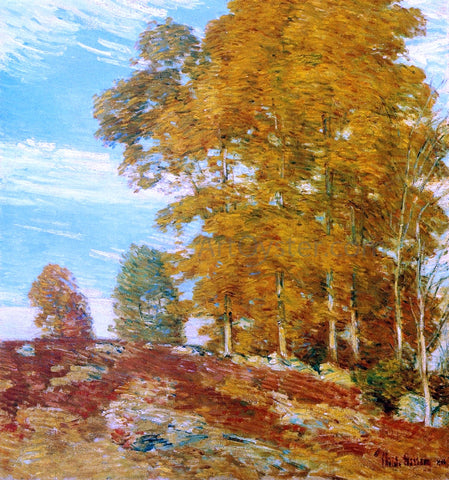 Frederick Childe Hassam Autumn Hilltop, New England - Hand Painted Oil Painting