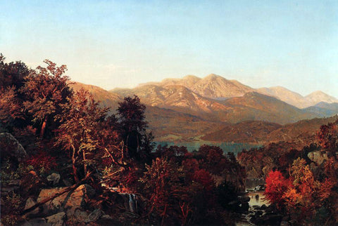 William Trost Richards Autumn in the Adirondacks - Hand Painted Oil Painting