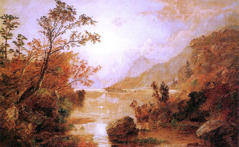 Jasper Francis Cropsey Autumn in the Highlands of the Hudson - Hand Painted Oil Painting