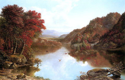 William Mason Brown Autumn Landscape - Hand Painted Oil Painting