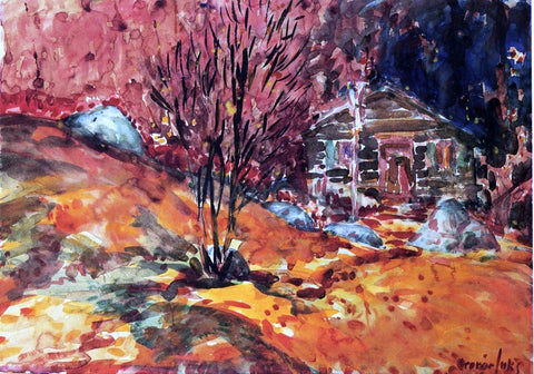George Luks Autumn Landscape - Hand Painted Oil Painting