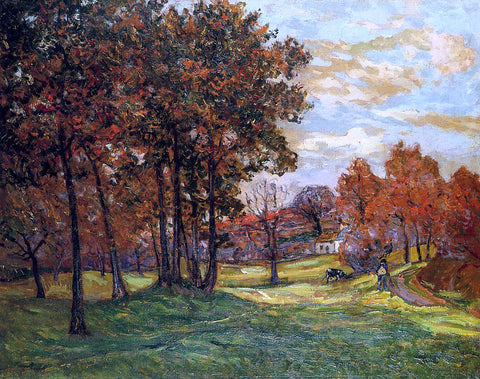 Maxime Maufra Autumn Landscape at Goulazon, Finistere - Hand Painted Oil Painting