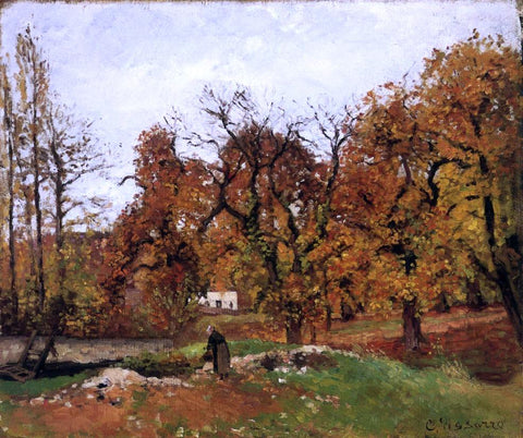 Camille Pissarro Autumn Landscape, near Pontoise (also known as Autumn Landscape, near Louveciennes) - Hand Painted Oil Painting