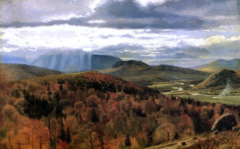 John George Brown Autumn Landscape - Shelburne, VT - Hand Painted Oil Painting
