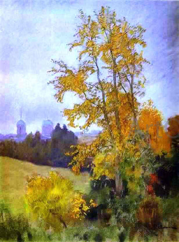 Isaac Ilich Levitan Autumn Landscape with a Church - Hand Painted Oil Painting