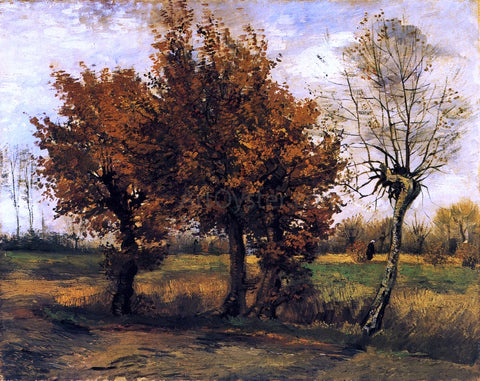Vincent Van Gogh Autumn Landscape with Four Trees - Hand Painted Oil Painting