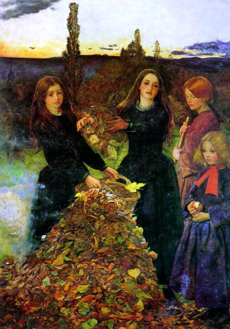 Sir Everett Millais Autumn Leaves - Hand Painted Oil Painting