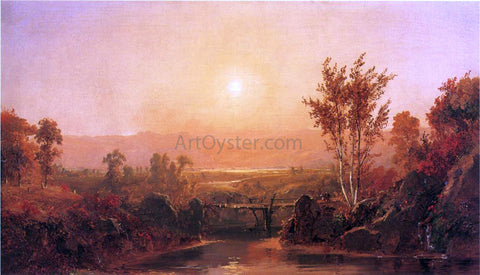 Jasper Francis Cropsey Autumn Light on the Ramapo River - Hand Painted Oil Painting