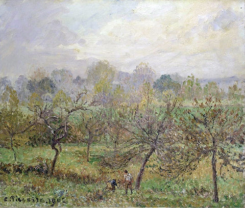 Camille Pissarro Autumn, Morning Mist, Eragny-Sur-Epte - Hand Painted Oil Painting