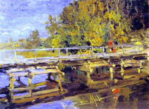 Constantin Alexeevich Korovin Autumn On Bridge - Hand Painted Oil Painting