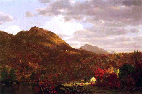 Frederic Edwin Church Autumn on the Hudson - Hand Painted Oil Painting