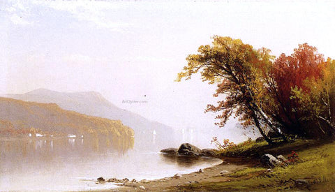 Alfred Thompson Bricher Autumn on the Lake - Hand Painted Oil Painting