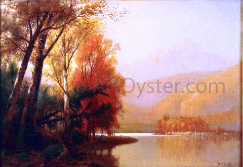 William M Hart Autumn on the Lake - Hand Painted Oil Painting