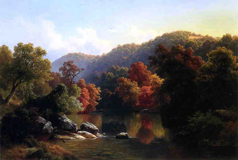 Paul Weber Autumn on the River - Hand Painted Oil Painting