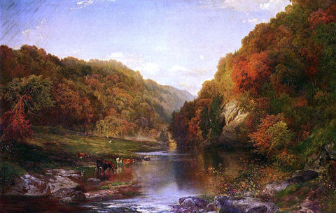 Thomas Moran Autumn on the Wissahickon - Hand Painted Oil Painting