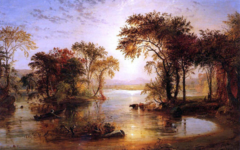 Jasper Francis Cropsey Autumn on the Susquehanna - Hand Painted Oil Painting