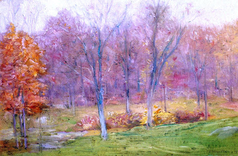 Julian Alden Weir Autumn Rain - Hand Painted Oil Painting