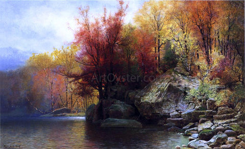 Alexander Lawrie Autumn River Landscape - Hand Painted Oil Painting