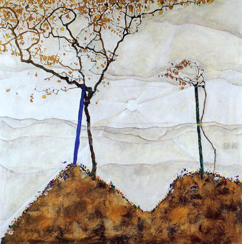 Egon Schiele Autumn Sun I - Hand Painted Oil Painting