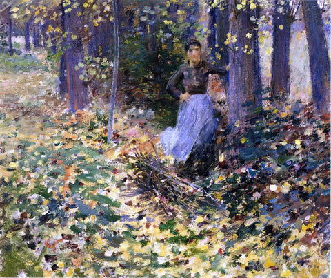 Theodore Robinson Autumn Sunlight - Hand Painted Oil Painting