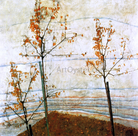 Egon Schiele Autumn Trees - Hand Painted Oil Painting