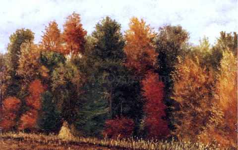 William Aiken Walker Autumn Woods at the Edge of a Cornfield - Hand Painted Oil Painting
