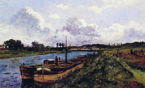 Karl-Pierre Daubigny Auvers Sur Oise - Hand Painted Oil Painting