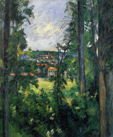 Paul Cezanne Auvers-sur-Oise, View from Nearby - Hand Painted Oil Painting
