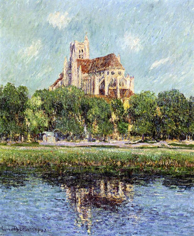 Gustave Loiseau Auxerre Cathedral - Hand Painted Oil Painting