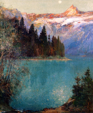 Oliver Dennett Grover Avalanche Lake - Hand Painted Oil Painting