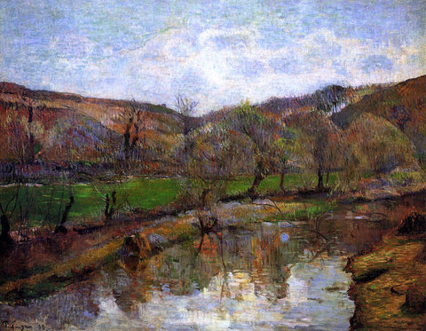Paul Gauguin Aven Valley, Upstream of Pont-Aven - Hand Painted Oil Painting