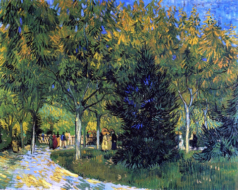 Vincent Van Gogh Avenue in the Park - Hand Painted Oil Painting