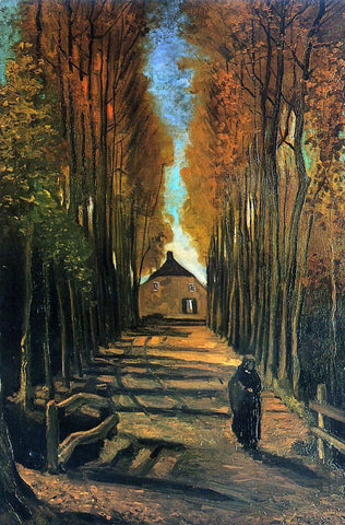 Vincent Van Gogh Avenue of Poplars at Sunset - Hand Painted Oil Painting