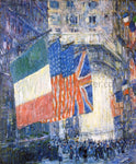 Frederick Childe Hassam Avenue of the Allies (also known as Flags on the Waldorf) - Hand Painted Oil Painting