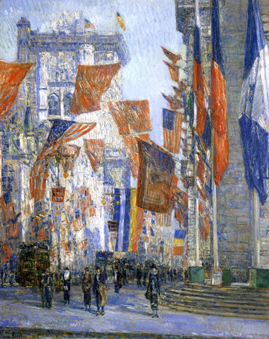 Frederick Childe Hassam Avenue of the Allies - Hand Painted Oil Painting