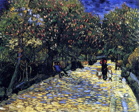 Vincent Van Gogh Avenue with Flowering Chestnut Trees - Hand Painted Oil Painting