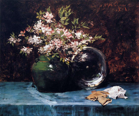 William Merritt Chase Azaleas - Hand Painted Oil Painting