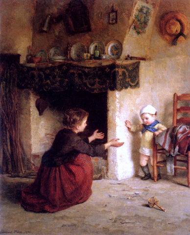 Edouard Frere Baby's First Steps - Hand Painted Oil Painting